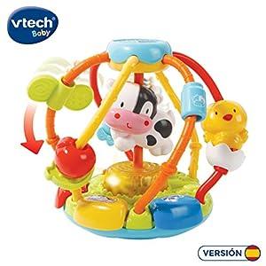 VTech-80-502922 Cuentas muuusicales, sonajero Bola interactiva bebé con más de 45 melodías, Voces y Canciones, desarrolla Vocabulario y motricidad Fina, Multicolor (3480-502922)