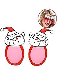 Fascigirl Christmas Glasses Santa Claus Pattern Party Glasses Party Favor For Christmas