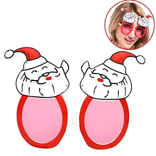 Zoylink Weihnachtsgläser Party Favors Gläser Weihnachtsmann Muster Brille für Weihnachten