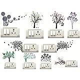 Decorvilla PVC Vinyl Switch Board Wall Sticker (Standard, Multicolor, 10 Piece)