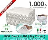 MEDICALMONO 1000 Panni TNT LavaPaziente, casa di riposo, Dry Paper monouso