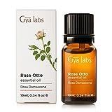 Rose Otto (Turquía) - 100% puro, sin diluir, natural y terapéutico grado para difusor de aromaterapia, piel sana y relajación 10ml - Gya Labs