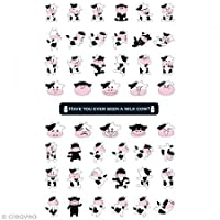 Toga SFG12Sticker Dancing Cow Plastic/Multicoloured 9.5x 18.5x 0.2cm