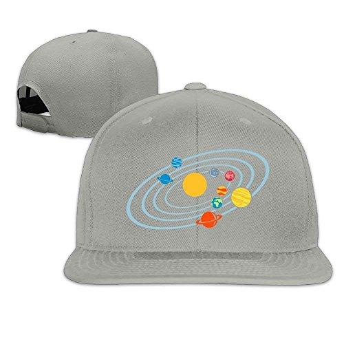 New Solar System Planets 1 Flat Bill Baseball Caps Adjustable Trucker Sun Visor Hat Low Profile