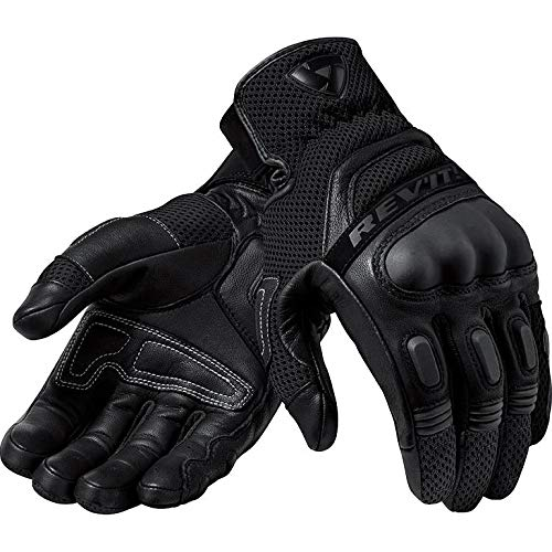 FGS139 - 1010-M - Rev It Dirt 3 Leather Motorcycle Gloves M Black