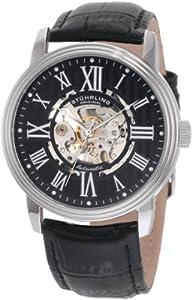 Stuhrling Original 1077.33151 - Reloj de automático para hombre, con correa de cuero, color negro de Stuhrling Original