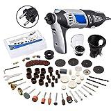 MOHOO Multifunktionswerkzeug Rotary Tool mit 98 Zubehör 190W 220V-240V Spannzange Durchmesser (8000-35000 RPM) Werkzeug Set für Hand- und Heimwerker,Schutzhaube