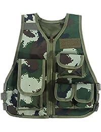 10730d3faefdc0 Tbest Kinder Camo Taktische Weste, Kinder Tactical Weste Kit für Nerf  Airsoft Armee Militär CS