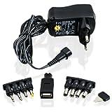 CSL - Universal Netzteil 3 / 4,5 / 5 / 6 / 7,5 / 9 und 12V AC/DC 1000mA, 9 Stecker  Reiseadapter