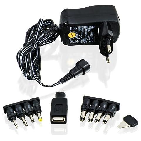 CSL–Universal Netzteil 3/4,5/5/6/7,5/9und 12V AC/DC 1000mA, 9fiches| Reise Adapter