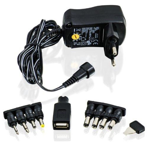 CSL - Fuente de alimentación universal 3/4,5/5 / 6/7,5/9 y 12V CA/CC 1000 mA, 9 conectores | adaptador de viaje