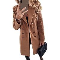 Tomwell Cappotto Donna Elegante Manica Lunga Moda Casual Jacket Cardigan Tinta Unita Sottile Caldo Cappotto Outwear…