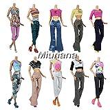 Miunana 5 Vêtements Pour Barbie de Livraison Aléatoire + 10 Paires de Chaussures