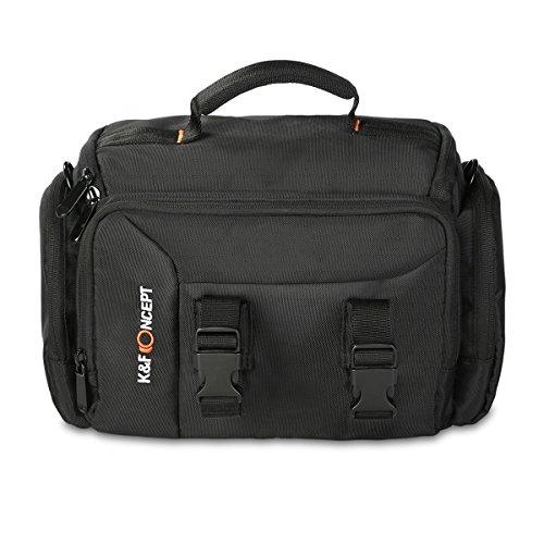 K&F Concept Kameratasche Fototasche Umhängetasche SLR Schultertasche für eine Kamera mit zwei 0bjektive 31*21*18cm L