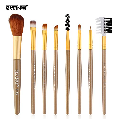 Maange/Ma Ange 8 Set De Pinceaux De Maquillage Rawdah 8pcs Cosmetic Makeup Brush Blusher Eye Shadow Brushes Set Kit