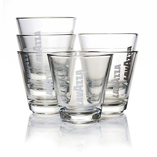 Lavazza Espressogläser, 12er Set, Kleine Gläser, Kaffeegläser, Trinkglas, Glas, 80 ml, 20003333