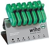 Wiha Wiha TORX-Schraubendrehersatz mit Schlüsselgriff, 7-tlg. T6 - T20 im Werkbankständer. (365VB)