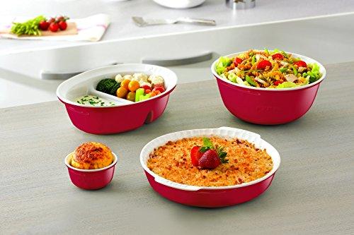 Pyrex impressions teglia da forno rettangolare in porcellana dura 33 x 24 cm colore rosso - Maniglie porcellana cucina ...