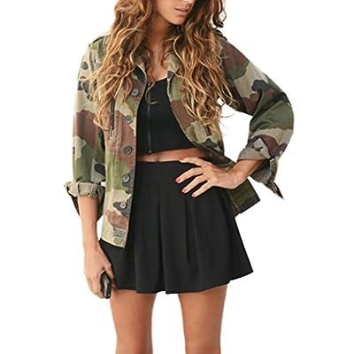 Damen Jacken Longra Frauen Camouflage Jacke Mantel Herbst Winter Street Jacke Frauen Casual Jacken