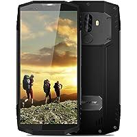 Blackview BV9000 2018 Das erste 18: 9 & IP 68 Smartphone, 5.7 Zoll (18: 9-Verhältnis Vollbild), 4G Outdoor Handy ohne Vertrag(IP68 Wasserdicht, Staubdicht, Stoßfest), Android 7.1 OS, 12V/2A Schnellladung, MT6757CD Octa-Core 2.6GHz 4GB RAM 64GB ROM, 4180mAh, Frontkamera + Dual Back-Kamera, Dual SIM, GPS NFC (Grau)