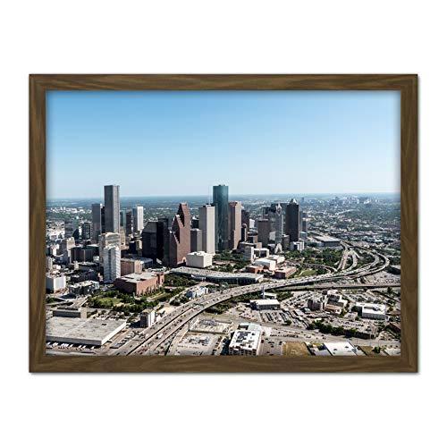 Highsmith Houston Texas City Skyline Photo Artwork Framed Wall Art Print 18X24 Inch Stadt Horizont Fotografieren Wand (Artwork Houston)