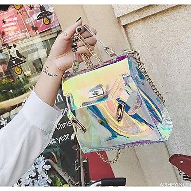 SUNNY KEY-Borsa a tracolla @ Donna Borsa a tracolla PU (Poliuretano) Per tutte le stagioni Casual Cerniera Blu Oro , blue gold