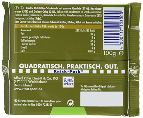 Ritter Sport Dunkle Mandel Quinoa, 100 g - 4