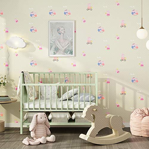 yhyxll Kinderzimmer Tapete Junge Mädchen Rosa Blau Cartoon Tapete Schlafzimmer Bekleidungsgeschäft Kindertapete 1