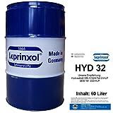 60l FASS HYD 32 LEPRINXOL HYDRAULIKFLÜSSIGKEIT. Das in 60 Liter Garagenfassabgefüllte Hydrauliköl HLP 32 ist ein Mineralöl, das als Druckflüssigkeit, Hydraulik Öl, der DIN 51524 Teil 2-HLP, SEB 181 222-HLP und VDMA, in Hydraulikanlagen verwendet wird.