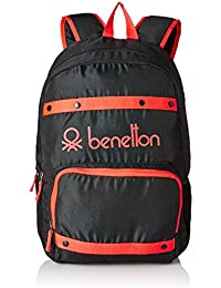 United Colors of Benetton 25 Ltrs Black Casual Backpack (16A6BAGT7005I)