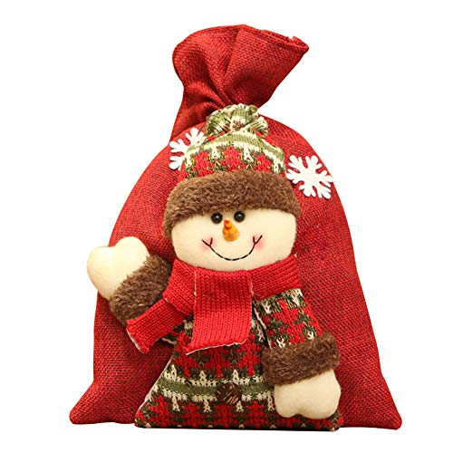 Fansi Süßigkeitstasche der Weihnachtskinder für Advent Geschenksäckchen Sack Beutel Deko Hochzeit Weihnachten Dreidimensionale Puppe Geschenk Kinder Snack Bundle Tasche - Puppe-haus-bundle