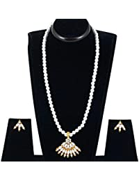 Spargz New Bollywood Style Gold Plated Alloy Metal Long Necklace Set For Women