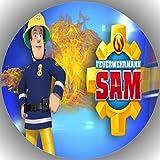 Fondant Tortenaufleger Tortenbild Geburtstag Feuerwehrmann Sam T29