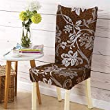 YTDE Spandex Elastic Printing Chair Cover Modern Removable Anti-Dirty Chair Cover Weddings Banquet Folding Hotel Chair Covering 1pcs1 One Size