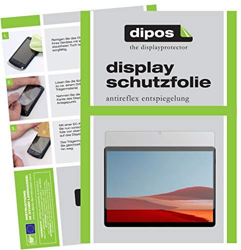 dipos I 2X Schutzfolie matt kompatibel mit Microsoft Surface Pro X Folie Displayschutzfolie
