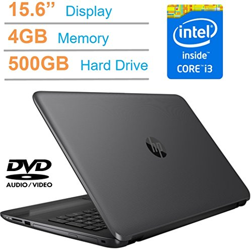 HP 15.6-inch HD SVA LED Backlit Display (1366 X 768) Laptop PC, Intel I3-5005U, 4GB Memory, 500GB 7200RMP HDD, Intel HD Graphics 5500, HDMI, DTS Studio Sound, DVD +/- RW, Windows 10 Professional