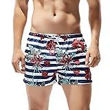 CixNy Herren Badeanzug Tankinis Sommer Badehose Für Männer Trocknen Schnell Strand Surfen Laufen Watershort Schwimmen Swimwear (Weiß, X-Large)