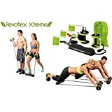 Dream Technology & Trading Total-Body Fitness Gym Revoflex Xtreme Abs Trainer Resistance Exercise New Sport Core Double AB Roller Exercise Equipment,Professional Ab Wheel Roller Supports,Abdominal Workout Machine