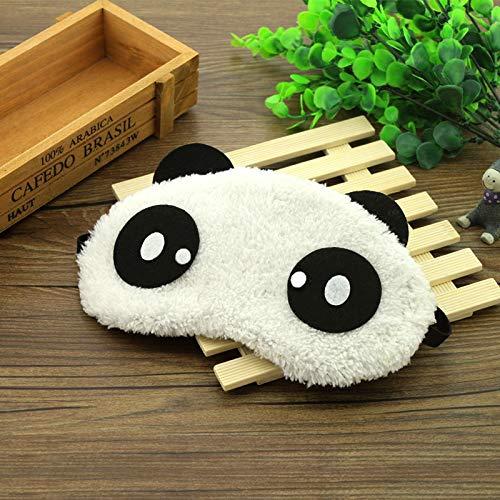 Neue süße Gesicht weiß Panda Augenmaske, Cartoon Schattierung Schlaf Baumwolle Brille Augenmaske, Schlaf Maske Augenbezug Gesundheit, Männer und Frauen Schlafmasken D