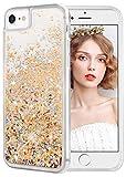 wlooo Hülle kompatibel mit iPhone 6/6s/7/8, iPhone 6s Hülle, Glitzer Flüssig Treibsand Handyhülle Glitter Quicksand Transparent Silikon Weich TPU Bumper Original Schutzhülle Case