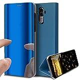 HMTECH Huawei Honor V10 Coque Luxe Clear View Etui Cuir Galvanoplastie Miroir Mirror...