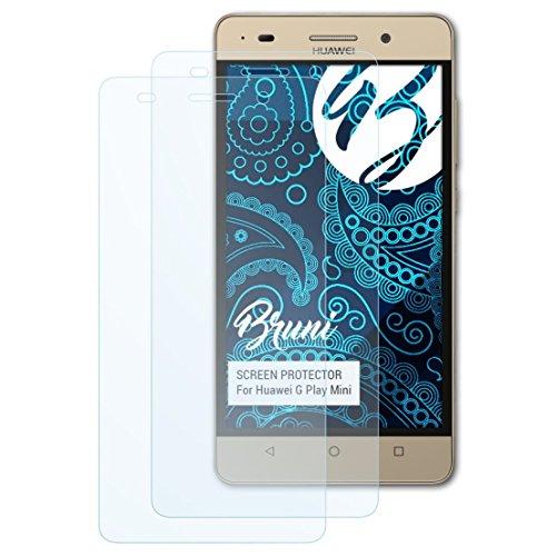 Bruni Schutzfolie für Huawei G Play Mini Folie, glasklare Bildschirmschutzfolie (2X)