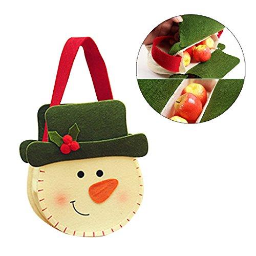 Weihnachten Schneemann Dekorative Geschenk Beutel tasche Christmas Bag Tasche Xmas Deko Bag für Candy Weihnachten Santa Schneemann Strumpf Filler Weihnachtssocken Geschenk Beutel können Weihnachtskollektion Kinder Geschenk (Für Kostüm Erwachsene Flaschen Wein)