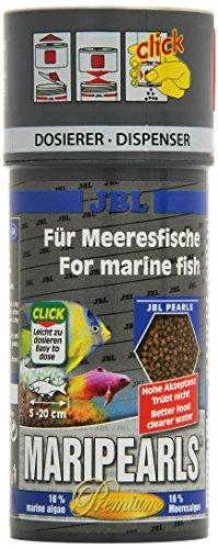JBL MariPearls 250ml CLICK - Aliment de base Premium en granulés pour poissons d'eau de mer - Avec doseur à clics