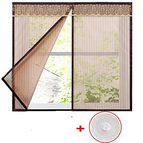 Men-l-jia zanzariera magnetica,, porta portiere garza tende magnetico invisibile di filati-a-140x150cm(55x59inch)