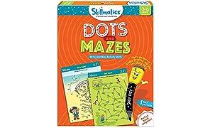 Skillmatics Educational Game: Dots and Mazes, 3-6 Years (Orange)