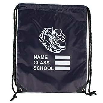 Kids Unisex Backpack Waterproof Drawstring Sports Gym Bag With Shoe Print Logo, Best School Kids PE Bag, Available Range of Colours
