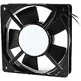 Ventilador Enfriador - TOOGOO(R) AC 220V-240V 120x120x25mm ventilador de enfriamiento para PC Caja Refrigerador Negro