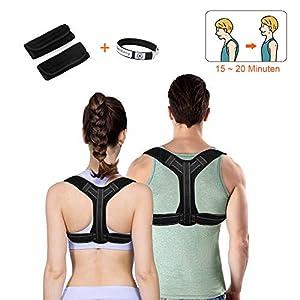 Geradehalter zur Haltungskorrektur , Rückenbandage und Schulter Rückenstütze für den oberen Rücken , Rückenstabilisator für Perfekte Haltung für Damen und Herren