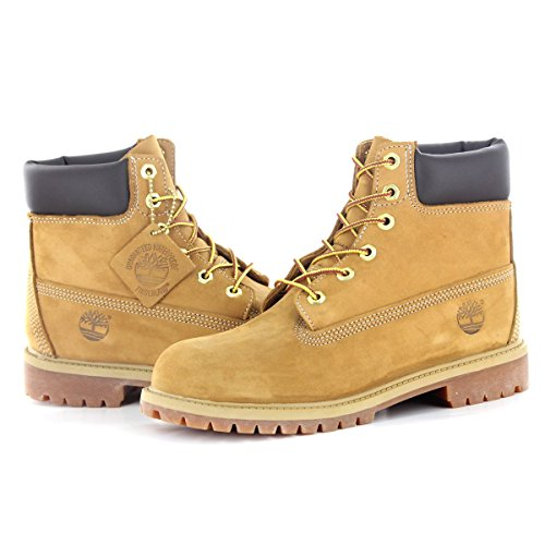 Timberland 6 In Classic Boot FTC_6 In Premium WP Boot 14749, Unisex-Kinder Stiefel Beige (Bianco)